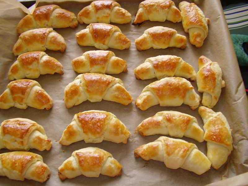 Слоистые рогалики - кулинарные видео рецепты